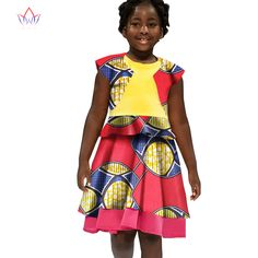 African Women Clothing kids dashiki Traditional cotton Dresses Matching Africa Print Dresses Children Summer none BRW WYT31