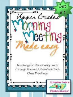 Each Morning Meeting Made Easy set includes materials for 5 themes that provide the opportunity for excellent morning meeting/classroom community lessons. I have provided materials for you to engage students through read alouds, whole group discussions, videos and song lyrics, quotation analysis, and personal reflection through journaling and self assessments. {belonging, kindness, conflict, compassion, perseverance}