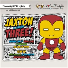 Iron Man Comics Strip Superhero Birthday Party Invitation - Superhero Birthday Invitations - Printable DIY Invitation - Personalized Invite card party printables will save you time and money while making your planning a snap!