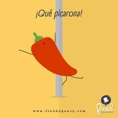 ¡Qué picarona! #Spanish #Wordgames #jokes #HumorGráfico