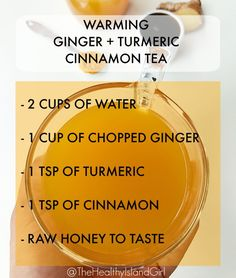 "This combo of ginger, turmeric AND cinnamon is great for weight loss. These three spices are considered ""warming"" in TCM and help with creating fire in our"