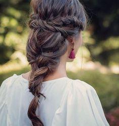 43 Cool Blonde Box Braids Hairstyles to Try - Hairstyles Trends Box Braids Hairstyles, Pretty Hairstyles, Wedding Hairstyles, Braided Chignon, Boho Braid, Great Hair, Bridesmaid Hair, Braid Styles, Gorgeous Hair