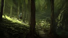 Deep forest by Ericoscarj.deviantart.com on @DeviantArt