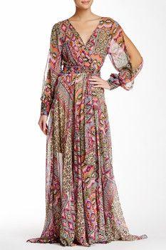 Meghan LA Long Sleeve Maxi Dress