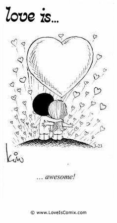 Love is. Awesome love you sooooooooooo much baby! Love Is Cartoon, Love Is Comic, What Is Love, Love You, My Love, Comics Love, Lovers Quotes, Love My Husband, Love Notes