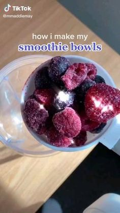 Fruit Smoothie Recipes, Healthy Smoothies, Smoothie Bowl, Fun Baking Recipes, Snack Recipes, Dessert Recipes, Starbucks Recipes, Food Cravings, Yummy Food