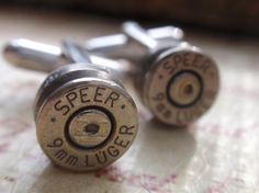 9mm Silver Bullet Shell Cuff Links