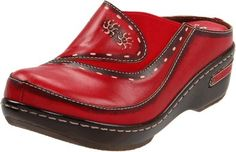L'Artiste by Spring Step Women's Chino Mule, Red, 43 EU/11.5-12 M US