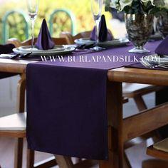 Plum Table Linen Set Special 12 Plum Napkins 20 x 20 inches
