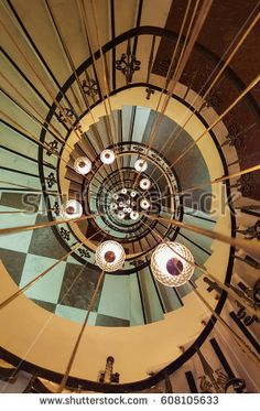 Spiral staircase in Istanbul,Turkey.