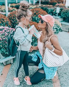When your Mom wants a kiss but you love your Starbs too much 🤣🤷🏼‍♀. - When your Mom wants a kiss but you love your Starbs too much 🤣🤷🏼‍♀️ I'm sharing Mo - Mommy And Me Outfits, Kids Outfits, Cute Outfits, Future Mom, Future Daughter, Mother Daughter Fashion, Mother Daughter Photos, Athleisure, My Baby Girl