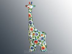 """Turov Art Collection """"I Am Yours"""" GIRAFFE DESCRIPTION 16.93"""" x 7.08"""" (18 x 43 cm) Ceramics figurine statue giraffe, hand painted decorative collection. Painting on faience in the technique of watercolor and oil painting, coating crystal glaze. Each figure - it is a real work of art. Gorgeous, hand-painted. Collector's item. Figurine statue giraffe can be a great gift for your nearest and dearest! About the artist: In his youth Anatoly Turov studied in the studios of many"""
