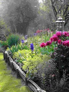 I'd love to get my gardens looking like that someday....I'm afraid it would require work and skill, tho...