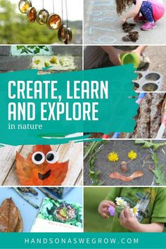 Explore, find new things in nature, get creative in how you use it and just have fun with these simple nature activities for kids to love being outside again! Outdoor Activities For Toddlers, Farm Activities, Autumn Activities For Kids, Gross Motor Activities, Nature Activities, Kids Learning Activities, Hands On Activities, Toddler Preschool, Outdoor Learning