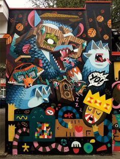 Nerd, Low Bros, street art, graffiti art, street artists, urban murals, urban art, mr pilgrim art.