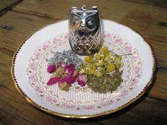SImple Flower Tea Recipe: 1 part CHAMOMILE • 1 part ROSEBUDS • 1 part LAVENDER • 1 part MINT