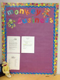 Sock Monkey information board... Monkey Business!!
