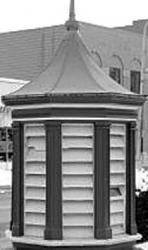 Two cupolas from Oakdale can be found in downtown Lapeer.
