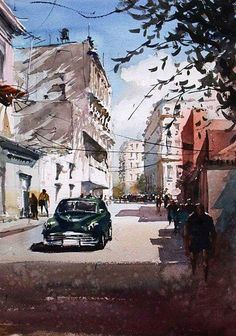 Day dream in Havana, by Kazuo Kasai