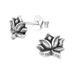 Blumen Ohrstecker Ohrringe Glücksbringer verschiedenen Farben mit Strass Neu
