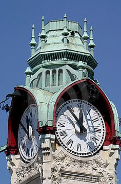 Tower-clock of the station in Rouen