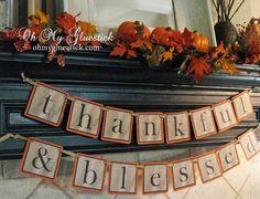 Creative Thanksgiving Garlands (Ideas and Tutorials)