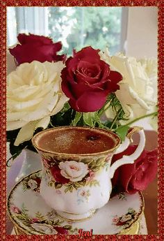 Coffee Flower, Flower Tea, Good Morning Coffee Gif, Coffee Break, Coffee Cafe, Coffee Drinks, Good Morning Flowers, Coffee Photography, Chocolate Coffee