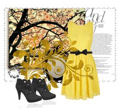 """""""Yellow days"""" by alethiaangel ❤ liked on Polyvore featuring Balmain, Yumi, Lanvin, Antica Murrina, women's clothing, women's fashion, women, female, woman and misses"""