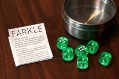 Homemade Farkle Game Set w/Instructions Printout. Christmas Games, Great Christmas Gifts, All Things Christmas, Christmas Crafts, Christmas Activities, Christmas 2016, Handmade Christmas, Fun Activities, Christmas Ideas