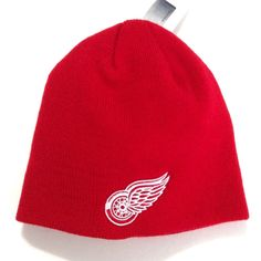 New DETROIT RED WINGS BEANIE Winter Knit Ski Hat Men Women Teen Red . Michigan  State ... 0f2ecd74b
