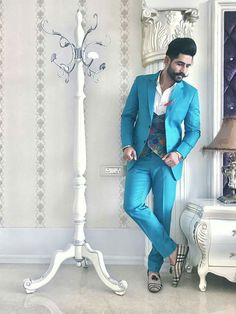Wedding Dresses Men Indian, Wedding Dress Men, Wedding Suits, Mens Fashion Blazer, Suit Fashion, Formal Attire For Men, Mens Ethnic Wear, Fancy Suit, Mens Kurta Designs