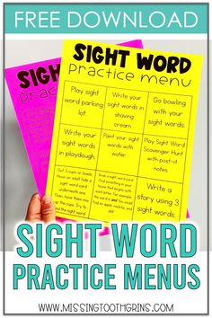 5 Ways To Practice Sight Words At Home – Missing Tooth Grins If you need some easy sight word practice, check out these 5 engaging ways to keep your kids learning their sight words at home! Teaching Sight Words, Sight Word Practice, Sight Word Games, Sight Word Activities, Reading Activities, Reading Centers, Class Activities, Kindergarten Activities, Literacy Centers
