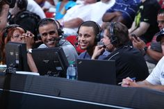 Stephen Curry was in attendance to support his teammates. During the game he sat down with NBA TV for a brief interview.