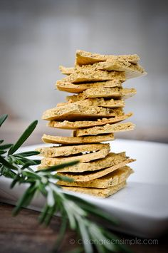 Herbed gluten-free chickpea flour crackers!  I'm gonna try to make them with brown rice flour too!  Maybe switch up the seasoning