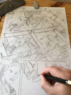 Szkicowanie komiksu LAZARUS. Więcej: www.martewicz.art Comic Art, Cartoon Art