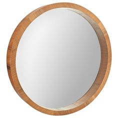 Atelier - Round mirror with wood frame/MIRRORS/WALL DECOR/SHOP BY PRODUCT/ATELIER BOUCLAIR|Bouclair.com