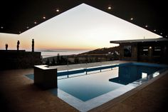 #vacation villa in #Tinos Habitart  Private swimming pool in a 110 m2 pool area http://www.tinos-habitart.gr/green-house.php