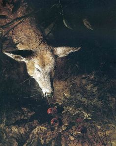 Jacklight (detail), by Andrew Wyeth, 1980.