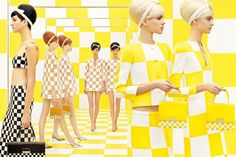 """""""Check"""" out Louis Vuitton's spring ads...  g-dragon probably likes this if he loves yellow so much"""