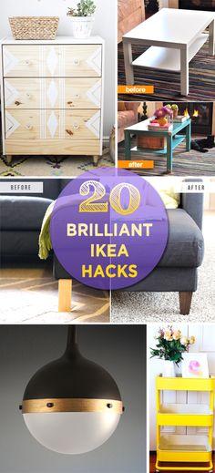 Ikea hacks, hacks diy, diy cans, easy diy projects, diy home decor projects Diy Home Decor Bedroom, Diy Home Decor Projects, Cool Diy Projects, Living Room Decor, Decor Ideas, Ikea Hacks, Hacks Diy, Diy Cans, Home Decor Accessories