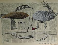 les amants de papier (collage : Helga Hornung)
