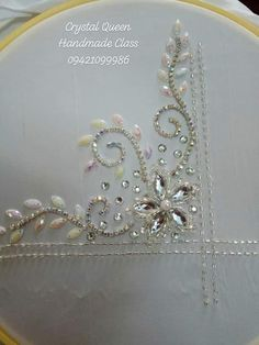 Best 12 Caftan Morrocco Jellaba Caftan D'or – SkillOfKing. Bead Embroidery Tutorial, Tambour Embroidery, Bead Embroidery Patterns, Embroidery On Clothes, Couture Embroidery, Bead Embroidery Jewelry, Hand Embroidery Designs, Ribbon Embroidery, Bordado Floral