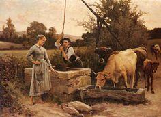 En el Pozo - (Edouard Debat-Ponsan)