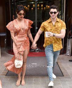 Sophie Turner and Joe Jonas who got married in a hush hush surprise wedding in Actress Priyanka Chopra, Priyanka Chopra Hot, Bollywood Couples, Bollywood Stars, Girl Fashion, Fashion Outfits, Fashion Couple, Fashion Ideas, Deep V Dress