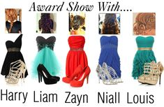 """""""Award Show With One Direction"""" by louis-tomlinson-madd ❤ liked on Polyvore"""
