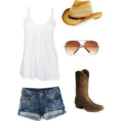 gorgeous country outfit except I don't like the sunglasses