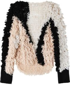 Pale Pink Crochet Cardigan by Ryan Roche