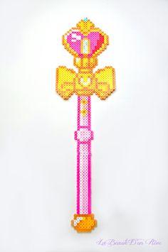 Sailor Moon Heart Staff Wand Pixel Art 8 Bit by LaBeauteDunReve, $24.99