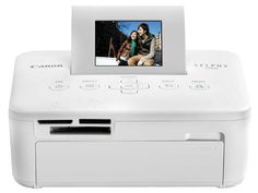"Canon SELPHY CP800 White Compact Photo Printer (4595B001) by Canon. $114.99. From the Manufacturer                 Canon SELPHY CP800 (White) Compact Photo Printer: High-Quality, Easy-to-Use Compact Photo Printer    OVERVIEW                  Canon SELPHY CP800 (White) Compact Photo Printer  High-Quality, Easy-to-Use Compact Photo Printer  Light, compact body and an optional battery makes it easy to take this printer with you Preview your images on the built-in 2.5"" tilt-up L..."