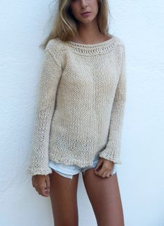 Cream wool sweater, sweater weather por EstherTg